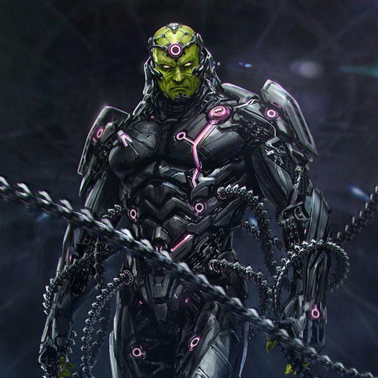 Character design for Injustice 2 main villain - Brainiac
