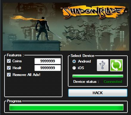Welcome players-Shadow Blade!prohacks4u present you an astounding new working Shadow Blade hack.  http://prohacks4u.com/androidios/shadow-blade-hackcheats-android-ios/