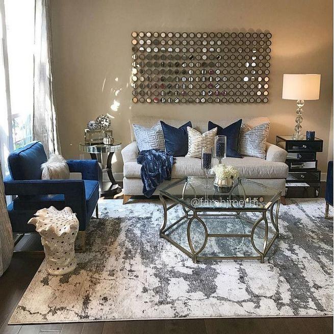 15 Stylish Small Movie Room Design Ideas For Happy Family Lmolnar Blue Living Room Decor Living Room Decor Apartment Silver Living Room