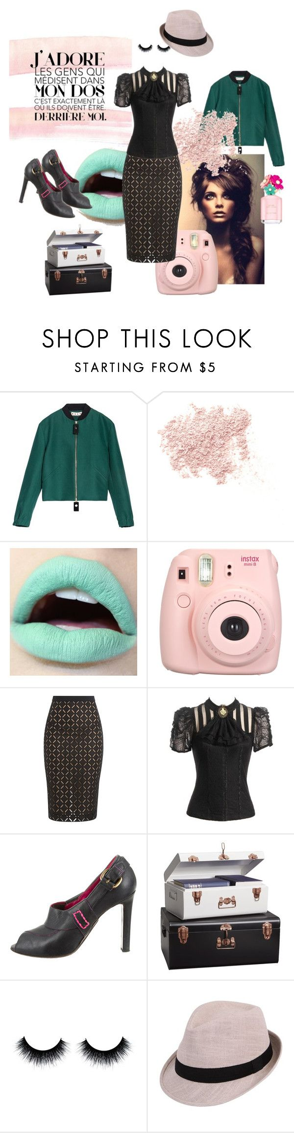 """J'ADORE"" by pinfi on Polyvore featuring Marni, Bare Escentuals, Marc Jacobs, Roland Mouret and Manolo Blahnik"