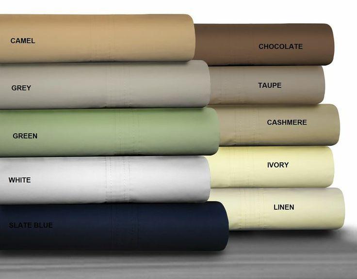 475 thread count egyptian cotton percale sheet set