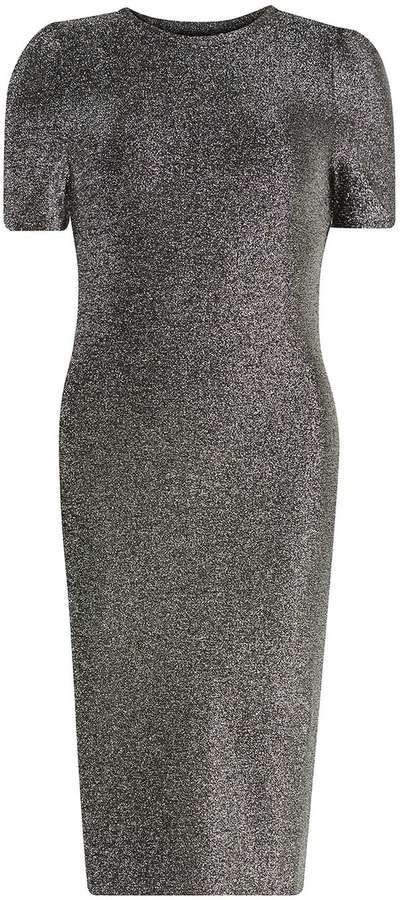 Dorothy Perkins Silver Shimmer Bodycon Dress