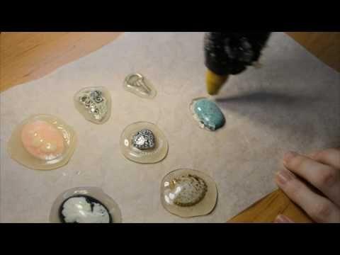 DIY Молды из клеевого пистолета своими руками Мастер класс - YouTube