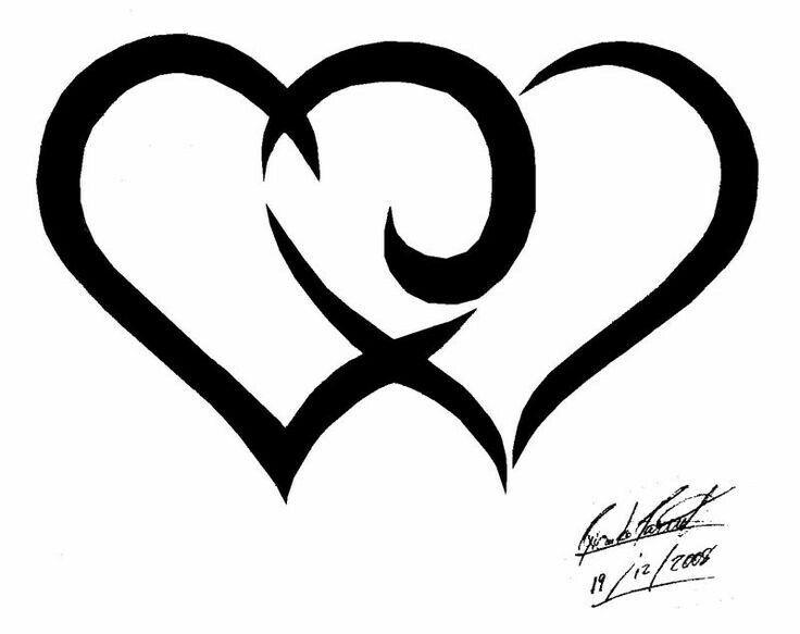 Картинки тату сердечек