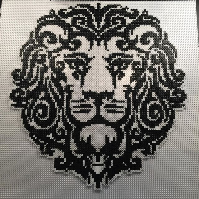 Lion hama perler bead art by aslaugsvava