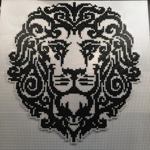 Lion hama perler bead art by  aslaugsvava