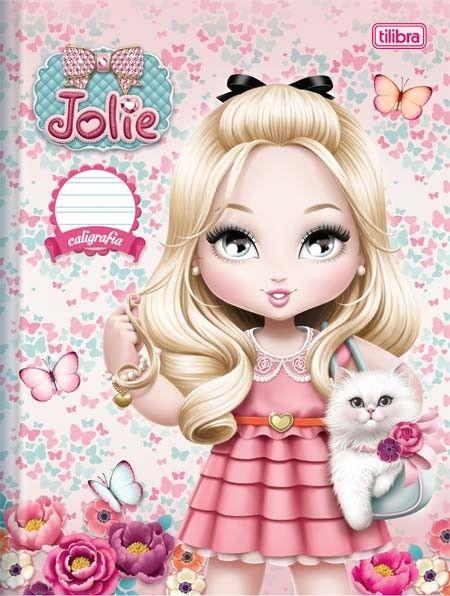 Caderno Pedagógico Brochura Capa Dura Caligrafia Jolie 40fls
