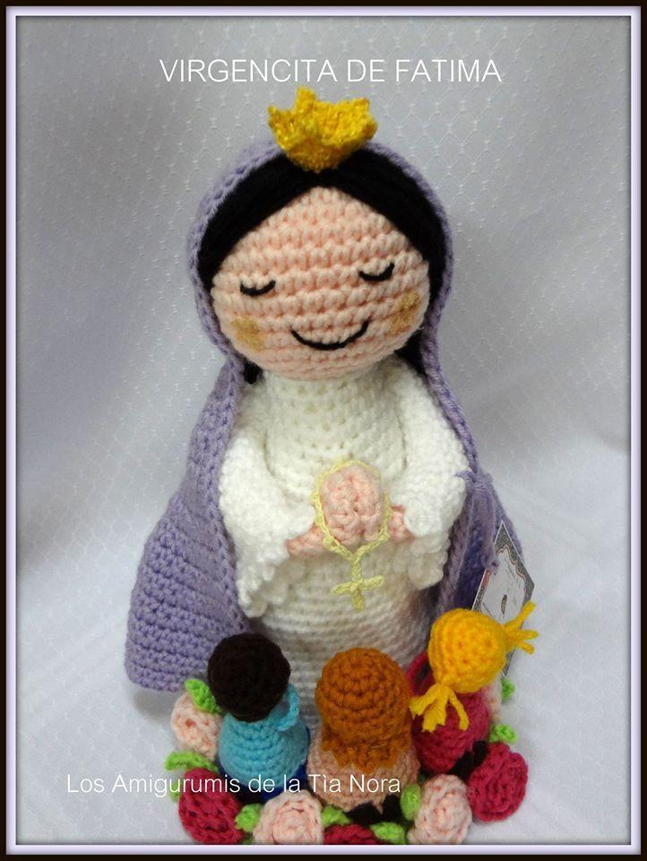 virgen crochet https://www.facebook.com/LosAmigurumisDeLaTiaNora/