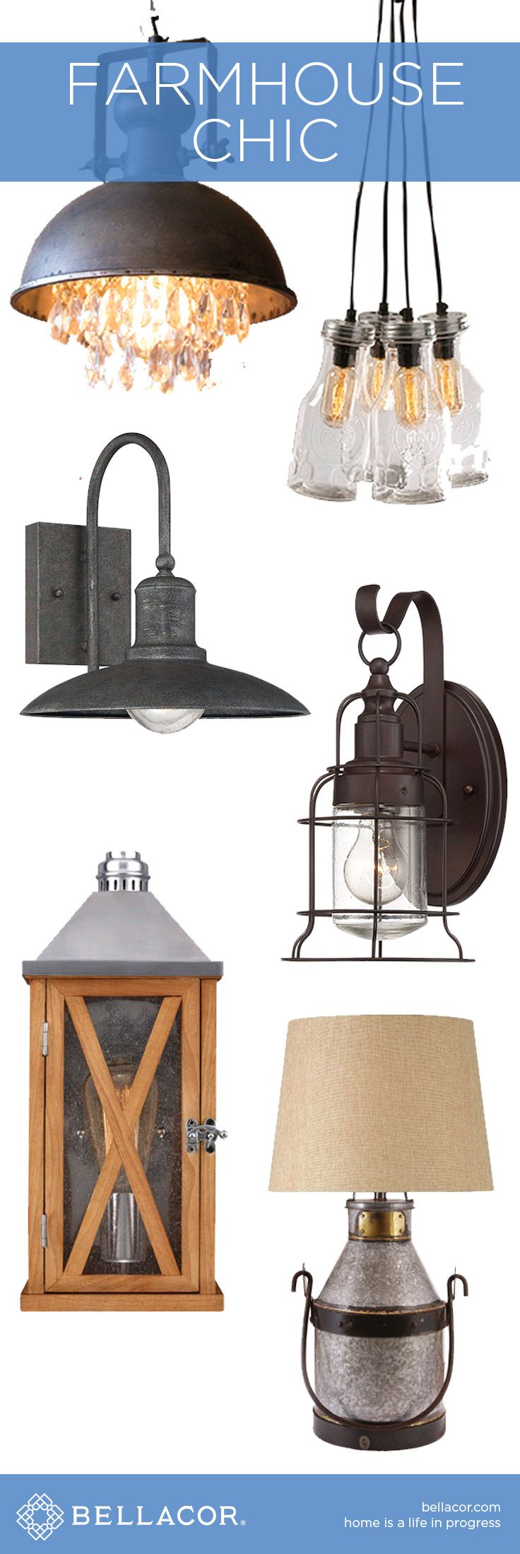 Shop Rustic Farmhouse Chic Lighting & Decor and Save Up to 20% at http://www.bellacor.com/