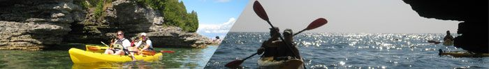 Door County kayak tours! Cave Point tour is the best!