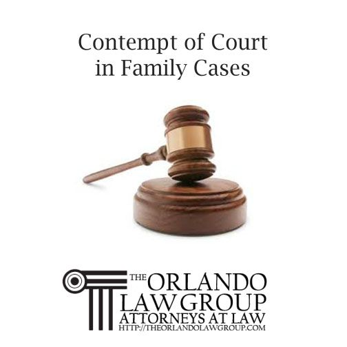 Contempt of Court in Family Cases