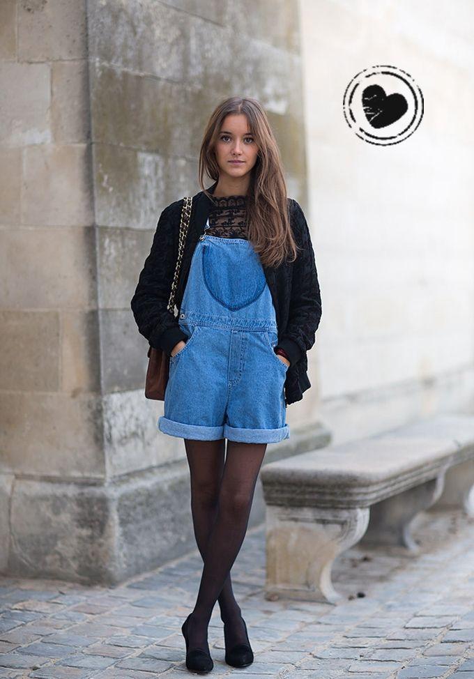 Look outono inverno jardineira jeans blusa de renda for Jardineira jeans feminina c a