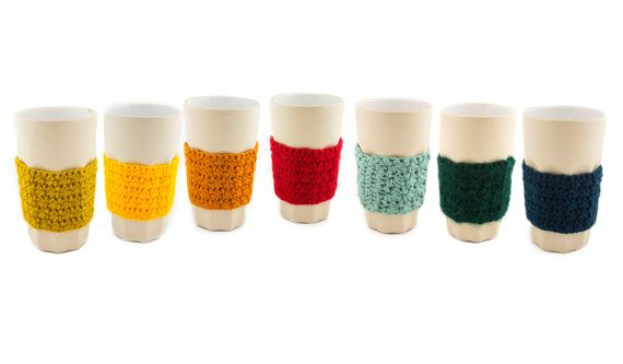 Add some colours to your table! :)  Crochet glass cozy  glass cozies  crochet by FoxyTricksHomeAndYou