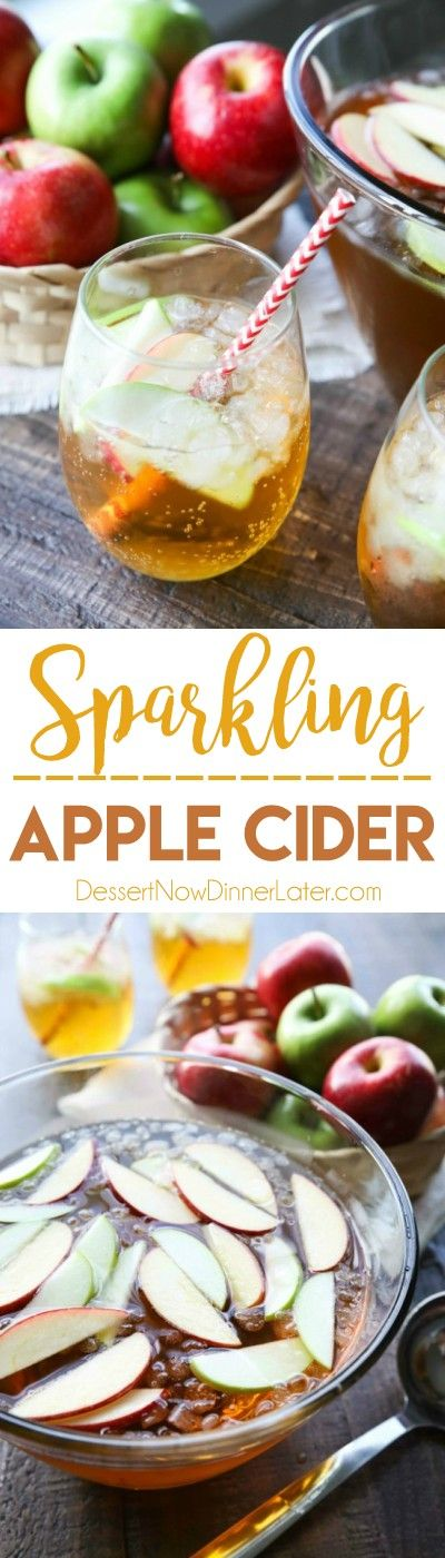 Homemade Sparkling Apple Cider tastes like Martinelli's, and serves a crowd. It's easy to make and cheap! A great non-alcoholic drink for the holidays. (+RECIPE VIDEO)