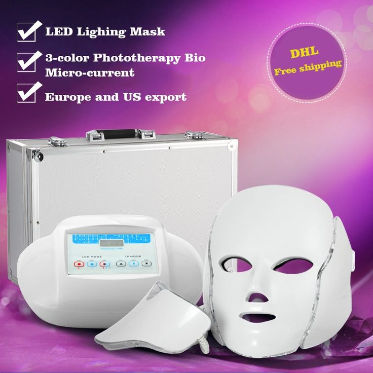 285.93$  Buy now - http://alieqg.worldwells.pw/go.php?t=32747545957 - DHL Free Shipping 3 colors PDT photon led LED facial neck mask Smart system Led light therapy mask for Anti-Aging Beauty Mask 285.93$