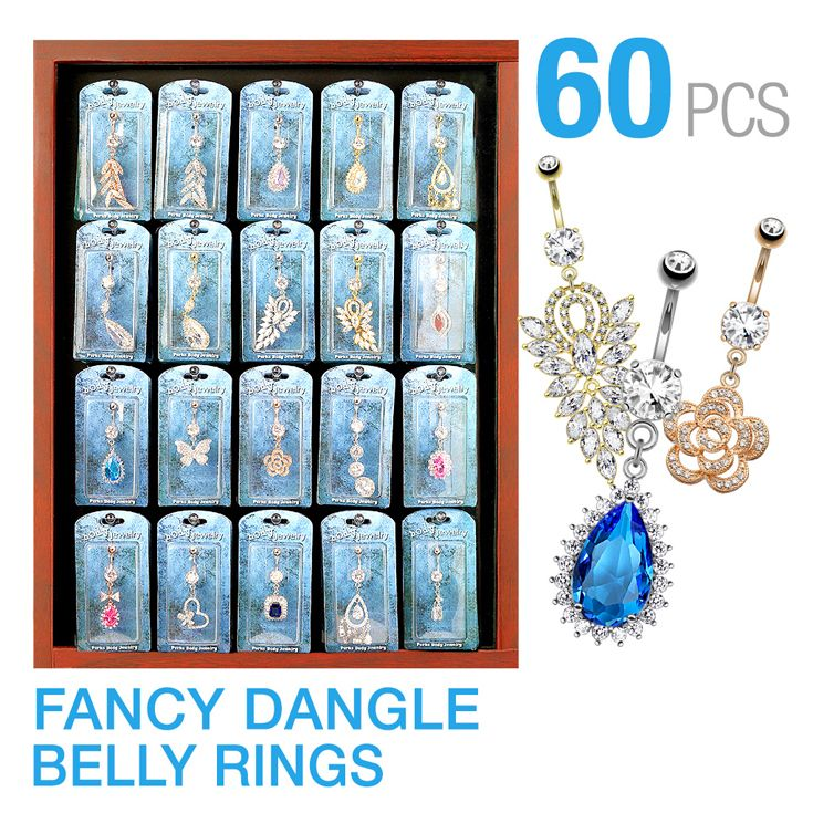 Meet our new 6 different best seller mix pack of 60 Pcs Pre-Packaged Belly Button Ring (3 Pcs x 20 Styles)  #Wholesale #BodyJewelry #Piercing #Jewelry #BodyPiercing #BellyButtonRings #BellyRings #BellyButtonPiercing #NavelRings #NavelPiercing