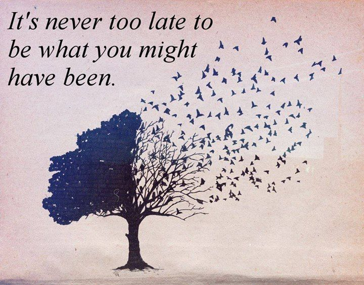 Remember that the past does not have to determine who you are  in the present.   Learn more at: http://timer.mes.fm/inspirational-quotes/its-never-too-late-to-be-what-you-might-have-been