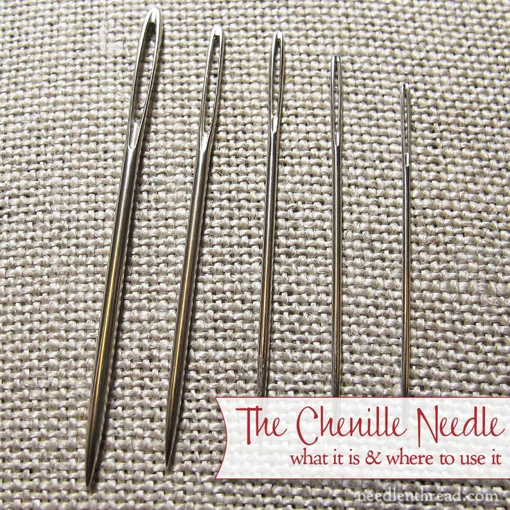 Ever wonder why the embroidery thread you're using frays, shreds, and breaks? Sometimes, switching needles will help! The chenille needle is a needle you need! Click through to find out what a chenille needle is, and why it's good to have some on hand!