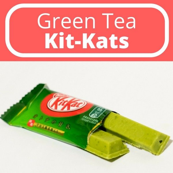 Green tea Kit Kat made with matcha and gyokuro leaves. I love Japanese sweets because they're never too sweet.