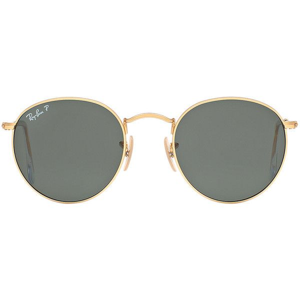 Ray-Ban RB3447 50 ROUND METAL Sunglasses found on Polyvore