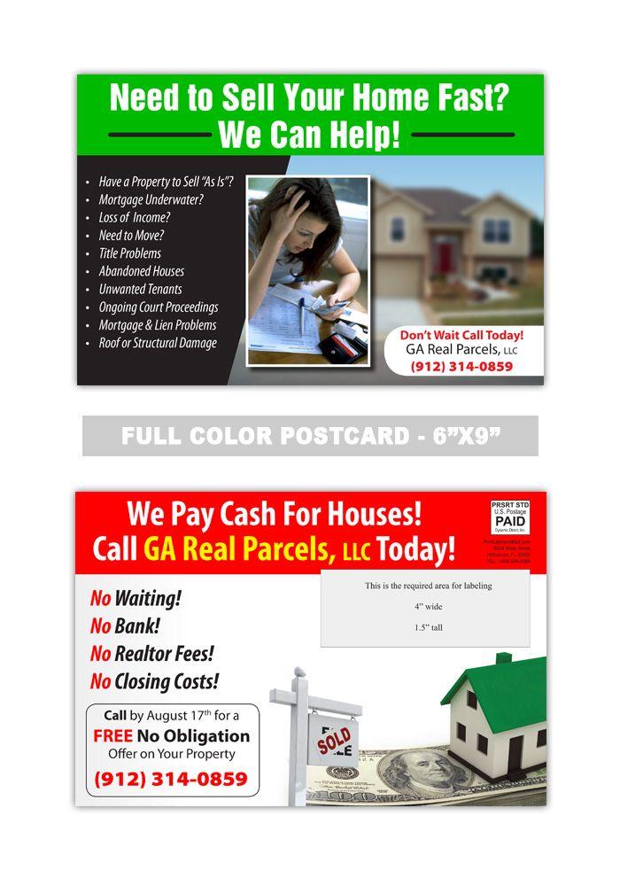8 best real estate postcard samples images on pinterest