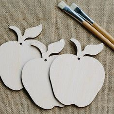 Wooden Apple Shapes