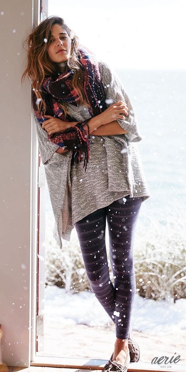 Aerie Bonfire Blanket Scarf. We say it a lot, but we mean it, this is COZY! #Aerie #Sweepstakes