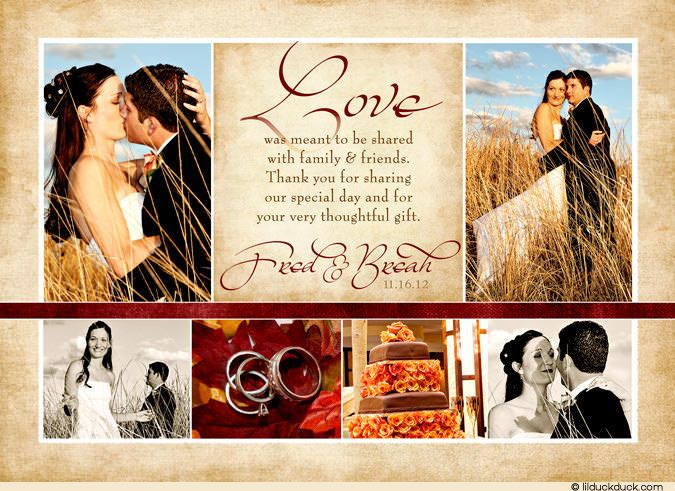 39 best Collage Photo Wedding Thank You Cards images on Pinterest