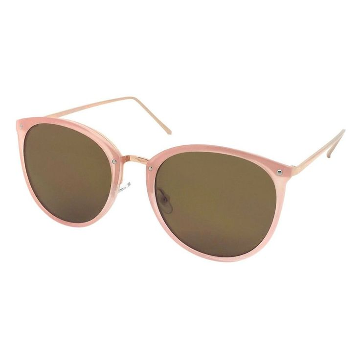 Women's Oversized Sunglasses - Pink/Gold