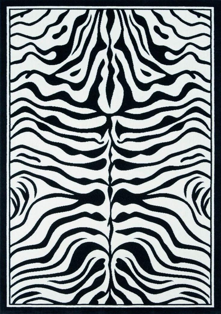 Die besten 25+ Zebra teppiche Ideen auf Pinterest - wohnzimmer teppich schwarz weis