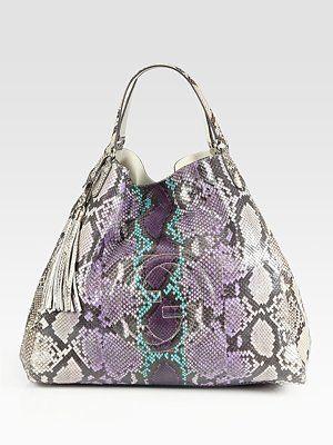 Gucci  Soho Large Python Shoulder Bag  ($4500) -- OH MY, I LIKEY.