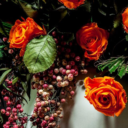 Trandafir Stabilizat Oranj Lung