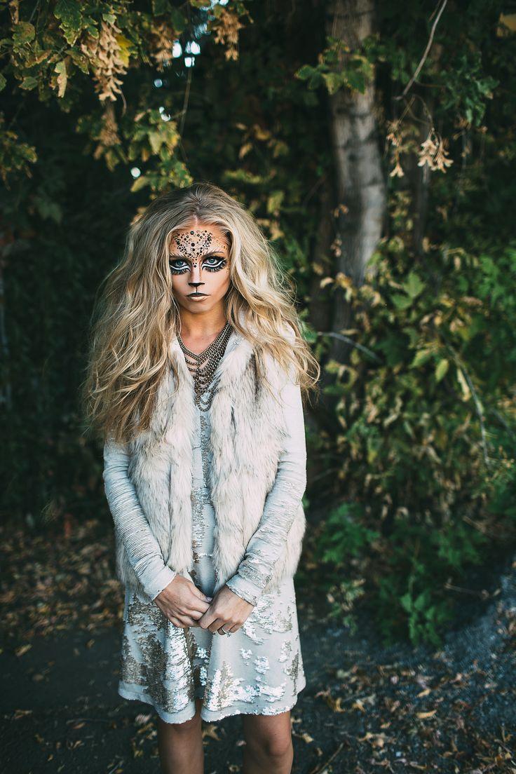 Lioness Lion Makeup and Costume Halloween www.jessakae.com/blog/lioness