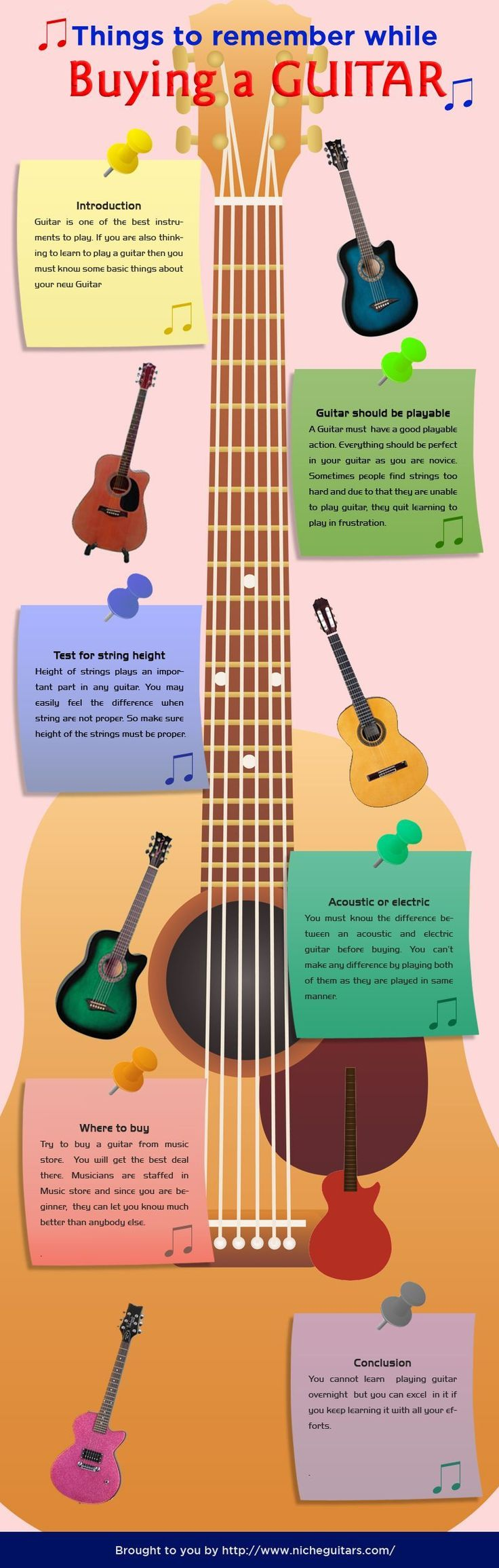 things-to-remember-while-buying-a-guitar-infographic. Just come to Music Mart in Solana Beach, CA - we have the best Acoustic & Electric, and we even have a great on-site guitar instructor :) #electricguitar