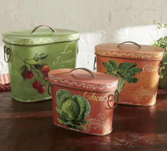 Tins French Country Set of 3 from Through the Country Door® & 47 best Through the country Door images on Pinterest | Fall ... Pezcame.Com