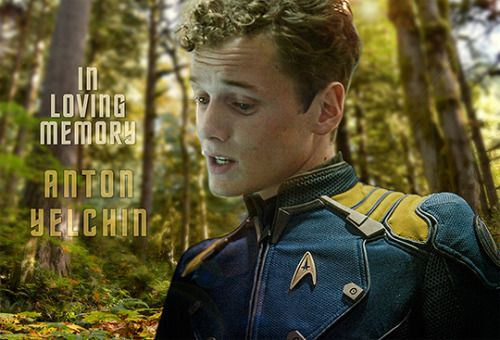 Anton Yelchin - Chekov  So I just learned that he died in June last year! :'( a week after my birthday. Can't believe I missed this...