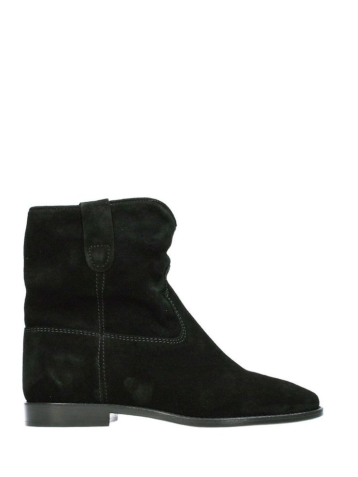 ISABEL MARANT CRISI WEDGE BLACK SUEDE ANKLE BOOTS. #isabelmarant #shoes #