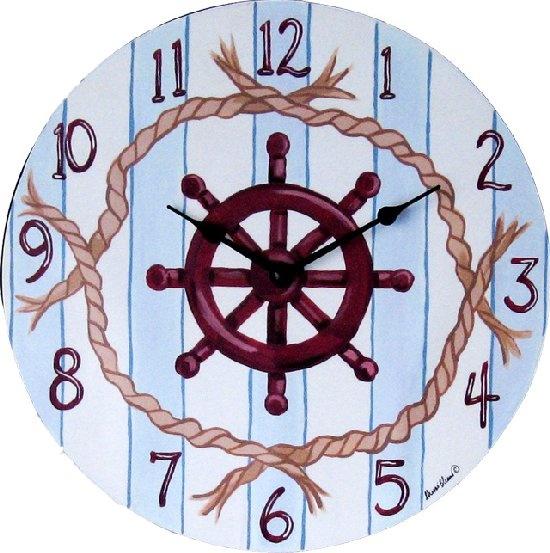 Very nice hand painted clock.