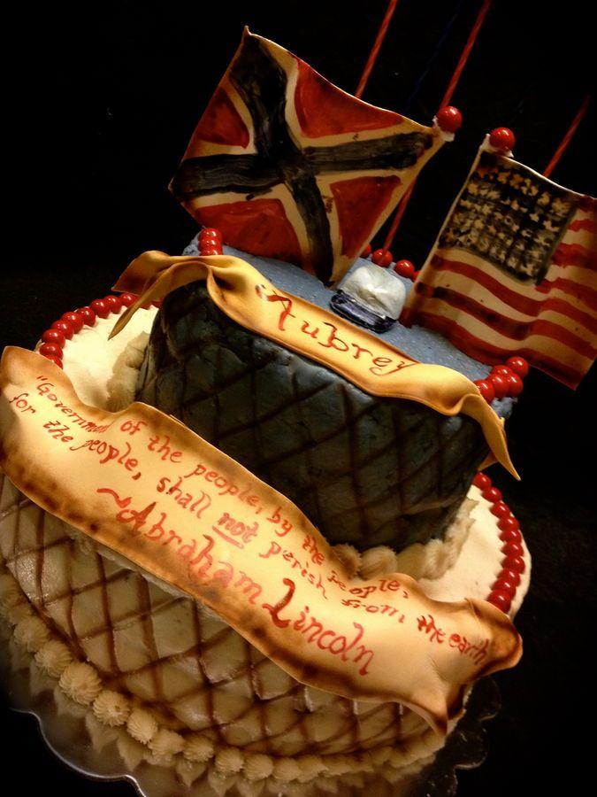 History Buff Birthday Cake