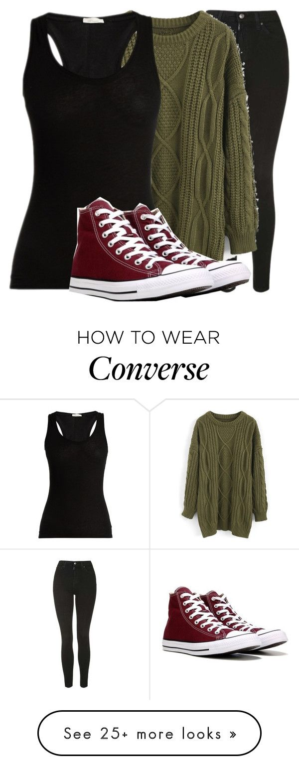 """""""#"""" by sevenjanja on Polyvore featuring Topshop, Chicwish, Skin and Converse"""
