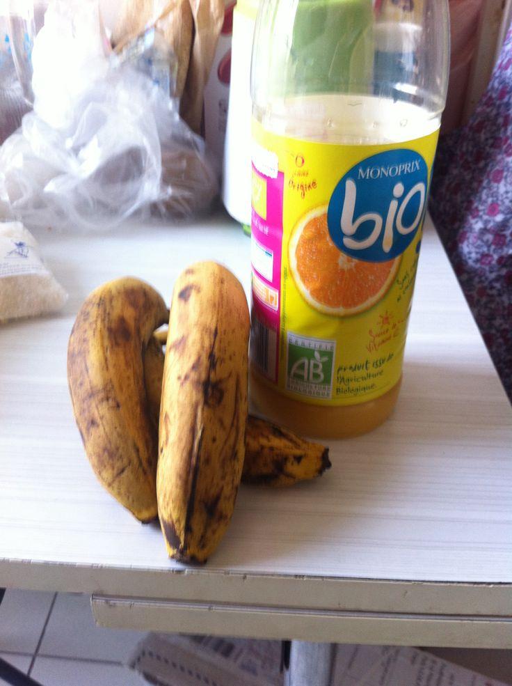 Banane jus d'orange
