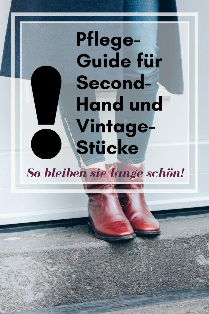 Damit Second-Hand und Vintage-Schätze lange schön bleiben: Pflege-Guide auf liebewasist.com #fashion #vintage #isabelmarant
