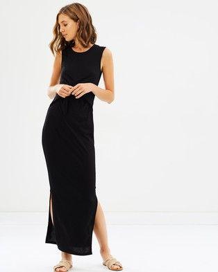Atmos & Here – Carina Jersey Maxi Dress Black