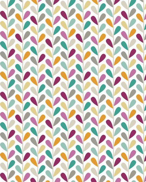 If By Air - Leaves, Custom Lg Scale fabric by ttoz on Spoonflower - custom fabric