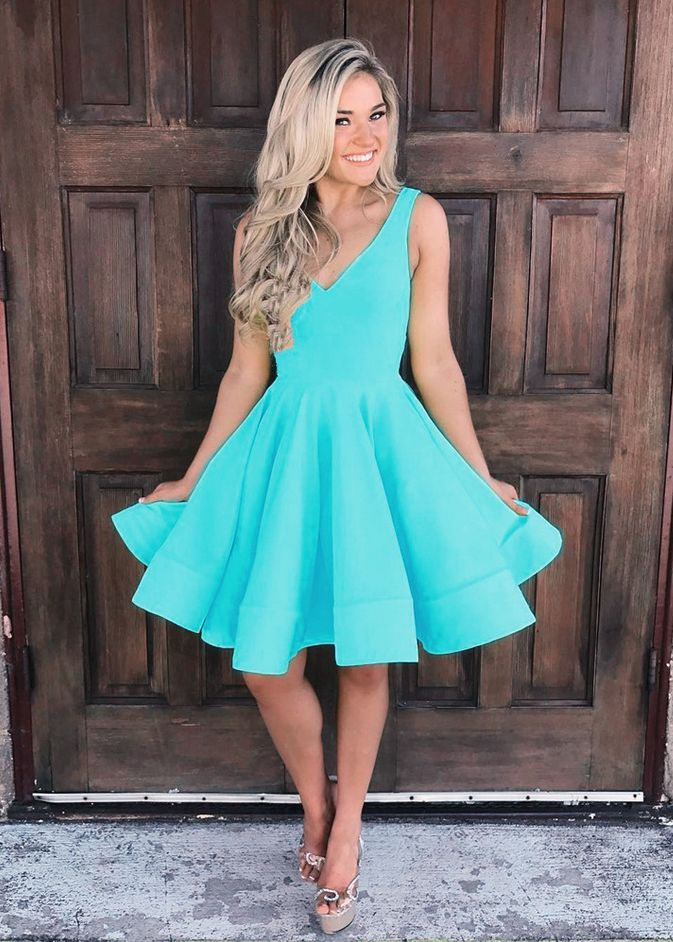 v neck homecoming dress,cute prom dress short,short mini ball gowns,short graduation dress,cocktail party dresses | Vestidos de baile curtos in 2019 | Pinterest | Homecoming dresses, Prom dresses and Dresses