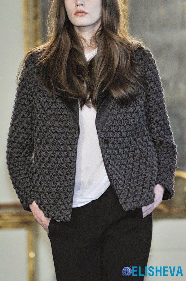 Вязаные вещи из толстой пряжи: платья, жакеты, свитера, пальто и аксессуары
