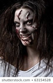 a scary looking girl possessed by a demon (With images ...