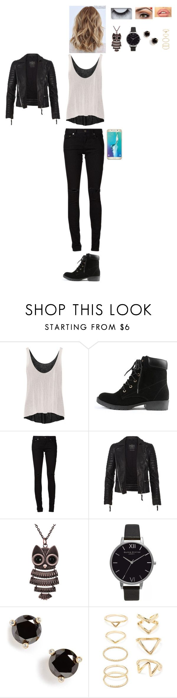 """Untitled #1137"" by leacousty55 ❤ liked on Polyvore featuring Enza Costa, Yves Saint Laurent, AllSaints, Samsung, Decree, Olivia Burton, Kate Spade, Forever 21 and Georgie Beauty"