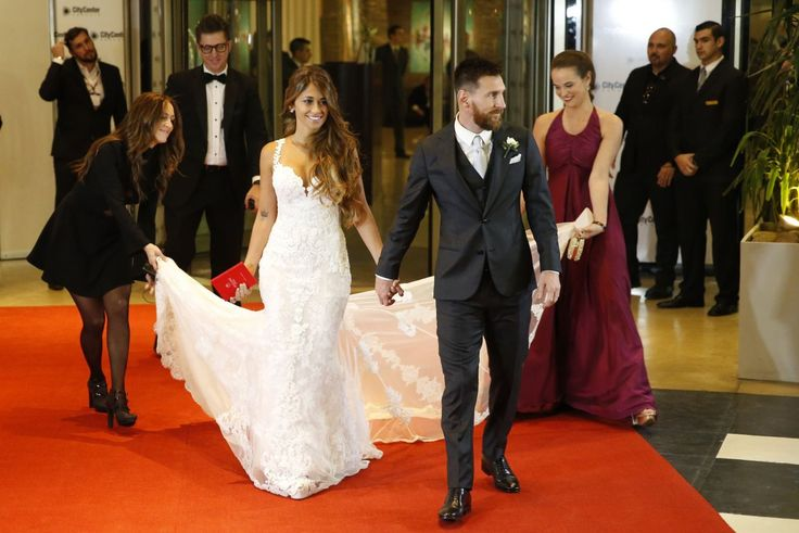 Lionel Messi and Wife Antonella Roccuzzo - Wedding Reception in Argentina 06/30/2017 | Celebrity Uncensored! Read more: http://celxxx.com/2017/07/lionel-messi-and-wife-antonella-roccuzzo-wedding-reception-in-argentina-06302017/