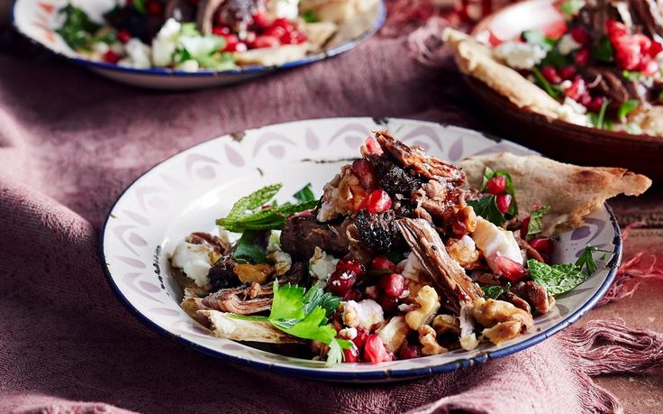 Succulent, juicy lamb salad with fresh pomegranate and crunchy walnuts - the perfect balance of texture and flavour, and perfect for dinner tonight!